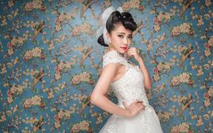 齐地纱三件套,走心的价格,小型婚礼的不二的选择