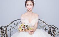 一字肩领婚纱礼服 新款春夏韩式抹胸时尚显瘦