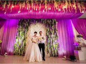 薰衣草紫,唯美浪漫—楚来顺酒店二楼美伦婚礼案例