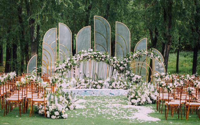 长沙橘子洲烂漫森系户外小清新婚礼