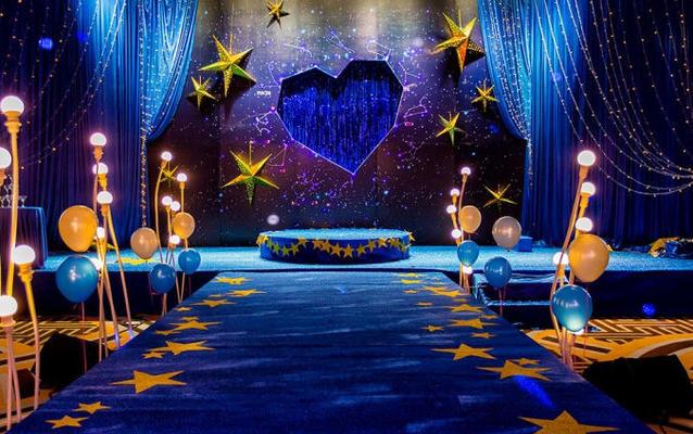 幸福驾到私人婚礼定制星空主题《星旅梦》