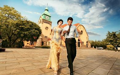 青岛天美婚纱摄影---最美欧式建筑基督教堂礼服篇