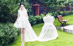 洛丽塔皇室系列-短款俏皮蕾丝婚纱