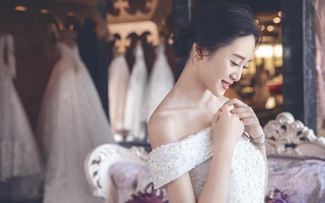 婉纱仙妮-2018高级定制款婚纱-手工定制婚纱