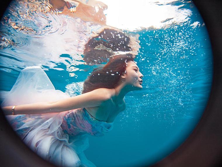 水下婚纱拍摄加内景基地系列