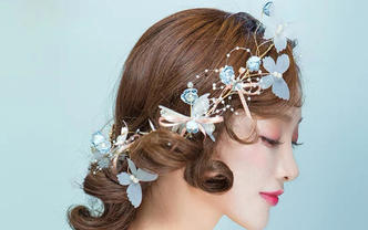 菲度高级化妆造型师省内外地新娘跟妆免费提供头饰