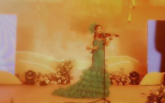 泉州小提琴、古筝专业演员婚礼独奏舞台表演2次