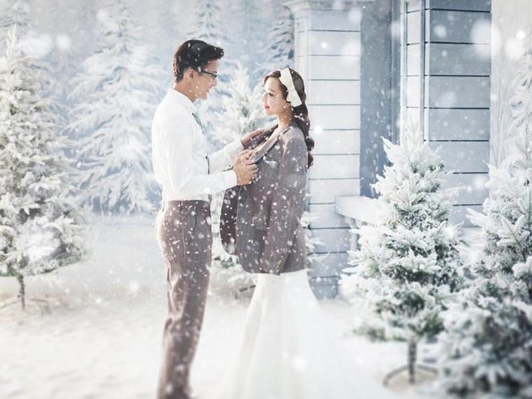 韩国KAMA  雪景幸福相依