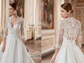 La Fides   典雅复古款长袖婚纱