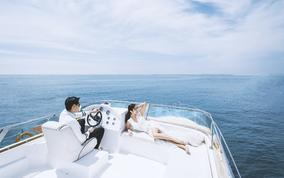 老虎滩婚礼庄园+游艇+水下+圣托里尼+住宿+邮寄