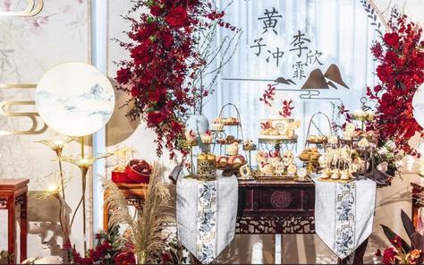 【立梵婚礼】新中式古风红白色系定制婚礼