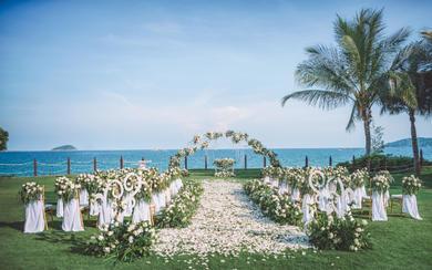 海边草坪婚礼 I 白绿色森系