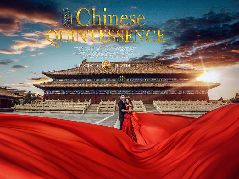 「玫瑰星座」 中国风婚纱照系列  京韵