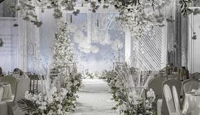 简约 雾霾蓝 白绿色 温馨 ing风 小型婚礼