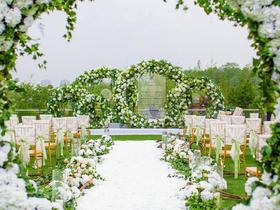 斯蔓婚礼-夏日清新白绿色草坪婚礼