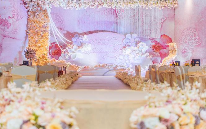 包含四大金刚-少女粉+香槟色主题婚礼