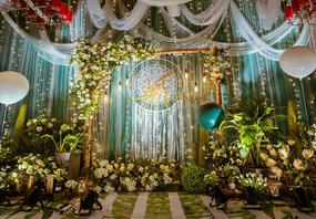 长沙维尔娜婚庆 白绿系 森系 清新 浪漫