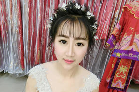 美美哒新娘的鲜花造型
