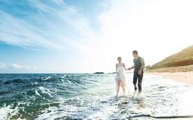 曼迪丨绝色海景三美湾丨四天海景酒店丨全新婚纱一件