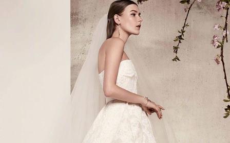 ℳ 简约系列 白墨水 手工定制1件婚纱+2件礼服