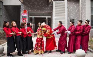 【中式套餐租赁】新娘婚服+新郎服+4组伴郎伴娘服
