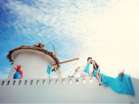 【希腊唯美海景婚纱摄影】圣托里尼私家海岸