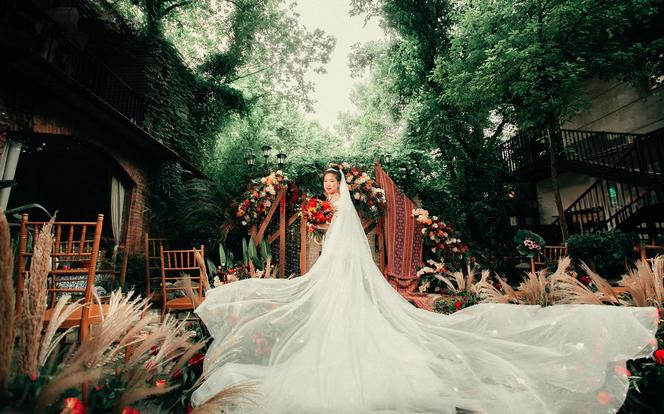 艺江南户外波西米亚风格婚礼全鲜花含三大金刚