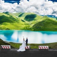 西藏布达拉宫旅拍婚纱照藏族特色服饰
