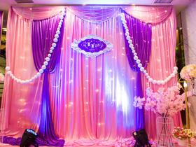 【千色阁婚礼会馆】-唯美粉紫、小清新蓝、喜庆红