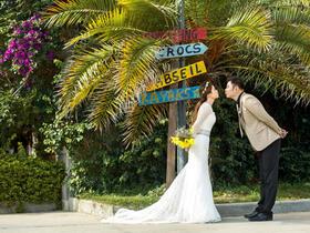 时尚街拍婚纱照