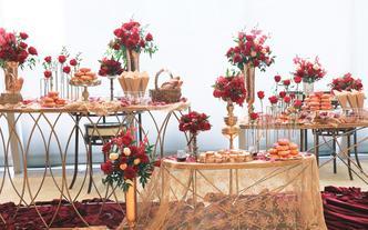 CakeItUp-红金复古甜品台
