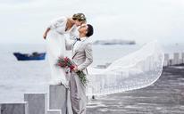 浪漫唯美婚纱——宝铂之白色海岸