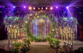 【兰亭定制】森系自然灯光绚烂,大气唯美的室内婚礼