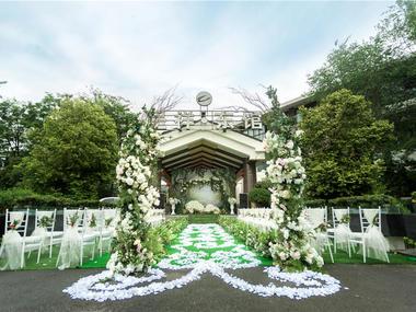 【品鉴国际婚礼定制】清新绿色森系户外婚礼布置
