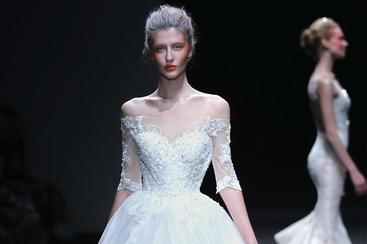 【Shenbai】一字肩公主裙婚纱