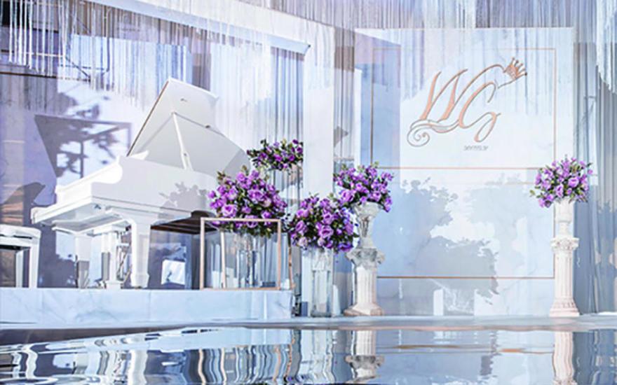 创意浪漫粉紫色系主题婚礼