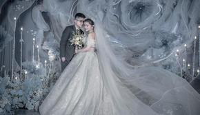 漫漫余生|高级雾霾蓝轻奢婚礼