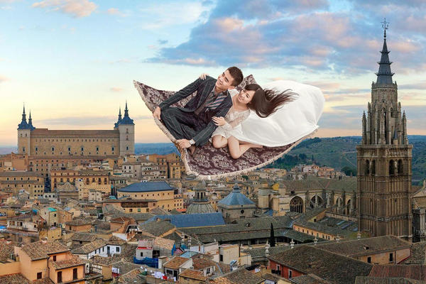 【客片鉴赏】私人定制+空中悬浮+创意魔幻婚纱照