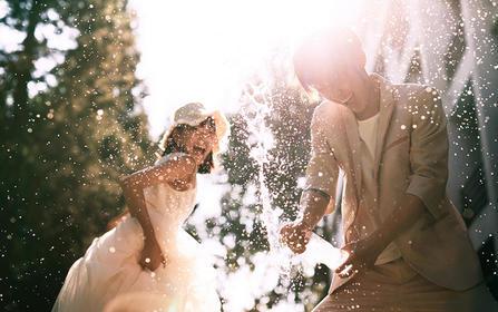 定制婚照爱情最好的模样莫过于你在闹我在笑