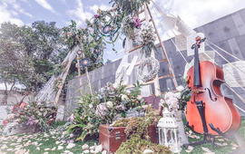 【喜尔婚礼】墨绿黑板学院风格音乐旅行主题户外婚礼