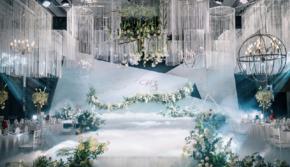 【唯喏婚礼】浅蓝大理石 四大 婚纱免费
