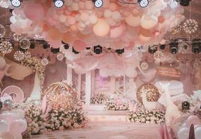 小清新粉色大气奢华包四大金刚婚礼