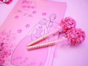 【粉色婚礼布置】幸福的距离.萌粉