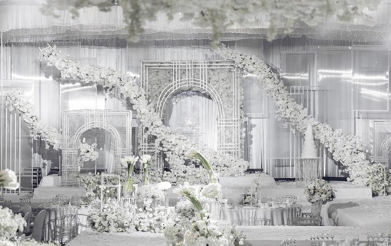 蜜堂婚礼记|时尚潮流,纯净白色浪漫优雅婚礼
