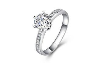 特际定制结婚钻石钻戒女婚戒50分定制款-女王桂冠