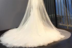 婚纱细节︱ 高定肩纱鱼尾