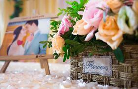 浪漫简约欧式鲜花婚礼