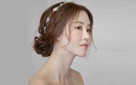 韩式小清新公主盘发妆客片三