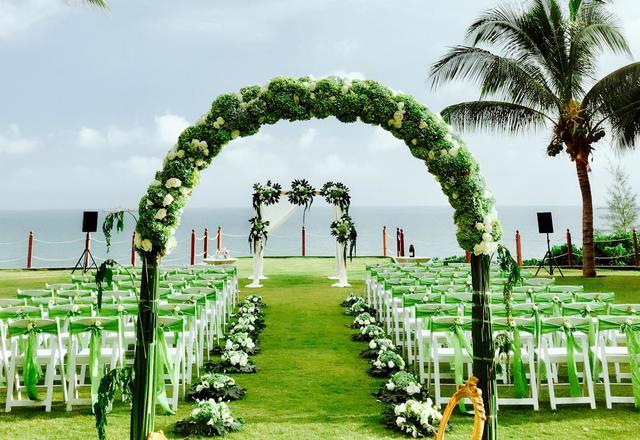 自然风,三亚海边复古草坪婚礼