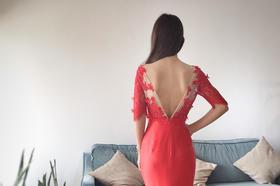 Judy -- 浪漫修身鱼尾蕾丝礼服